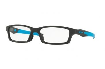 73e0095a3b3 Oakley CROSSLINK A OX8118 Single Vision Prescription Eyeglasses 811801-56 -  Satin Black Frame