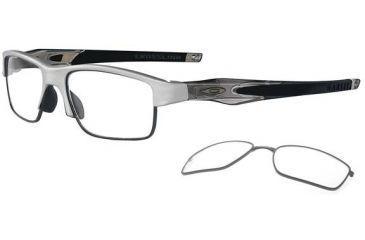 Oakley Crosslink Switch Eyeglasses - Brushed Alum/Grey Smoke Frame OX3128-0353