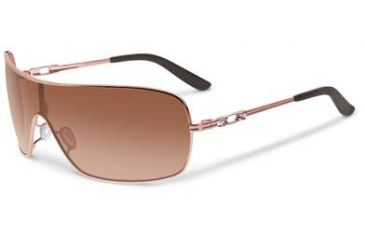 Oakley Distress Sunglasses, VR50 Brown Gradient Lens, Rose Gold Frame OO4073-02