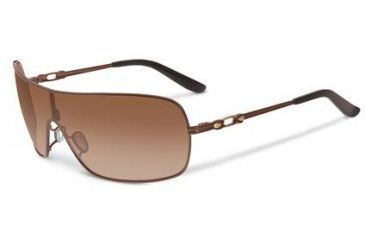 Oakley Distress Sunglasses, Dark Brown Gradient Lens, Polished Chocolate Frame OO4073-03