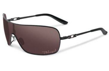 Oakley Distress Sunglasses, OO Black Iridium Polarized Lens, Metallic Black Frame OO4073-08