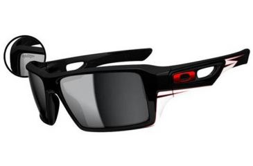 Oakley Eyepatch 2 Sunglasses - Troy Lee Design Polished Black Frame and Black Iridium Lens OO9136-15