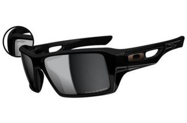 Oakley Eyepatch 2 Sunglasses - Troy Lee Design Polished Black Frame and Black Iridium Polarized Lens OO9136-16