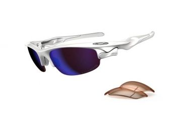 Oakley Fast Jacket Sunglasses, Polished White Frame, G30 Polar & VR50 Lens OO9097-06