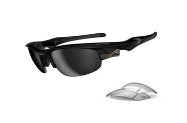Oakley Fast Jacket Asian Fit Polished Black Frame w/ Black Iridium Lenses Sunglasses OO9162-01