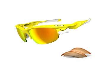 Oakley Fast Jacket Lemon Peel Frame w/ Fire Polarized & Persimmon OO9097-08