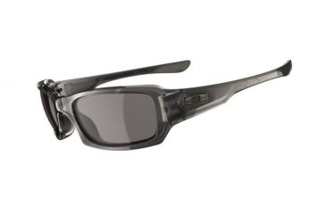 Oakley Fives Squared Sunglasses - Grey Smoke Frame w/ Warm Grey Lenses 03-441