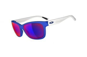 Oakley Forehand Sunglasses, Brilliant Blue Frame, Positive Red Iridium Lens OO9179-17