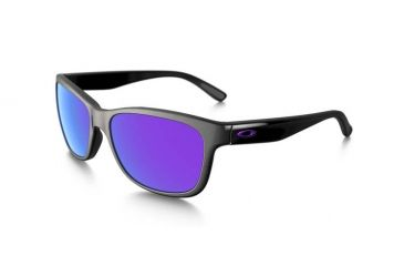Oakley Forehand Sunglasses, Polished Black Frame, Violet Iridium Lens OO9179-26