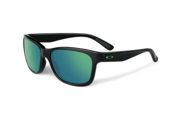 Oakley Forehand Sunglasses, Polished Black Frame, Emerald Iridium Lens OO9179-28