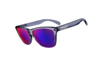 Oakley Frogskins Crystal Black Frame w/ + Red Iridium Lenses Sunglasses 24-304