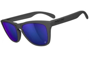 Oakley Frogskins Sunglasses - Infinite Hero - Carbon Frame and Violet Iridium Lens 24-348