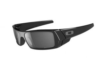 Oakley GasCan Single Vision Prescription Sunglasses - Polished Black Frame 12-891