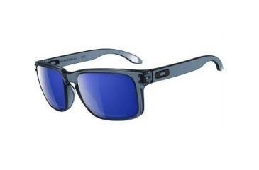 Oakley Holbrook Mens Sunglasses Crystal Black Frame, Ice Iridium Lens OO9102-47