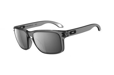 Oakley Holbrook Sunglasses, Grey Smoke Frame, Black Iridium Lens OO9102-24