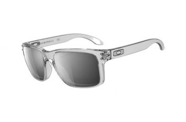 Oakley Holbrook Sunglasses - Clear Frame w/ Chrome Iridium Lenses OO9102-06