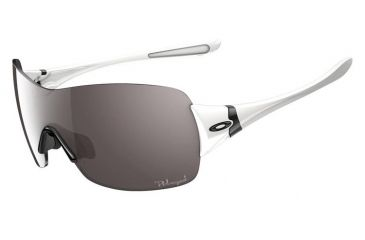 Oakley Miss Conduct Squared Sunglasses, Polished White Frame, OO Grey Polarized Lens OO9141-13