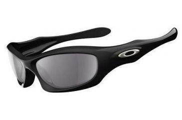 1895a988999e2 Oakley Monster Dog Polished Black Frame w  Grey Lenses Sunglasses 05-020