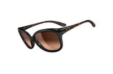 Oakley Pampered Sunglasses, Black Tortoise Frame, Dark Brown Gradient Lens OO9160-02