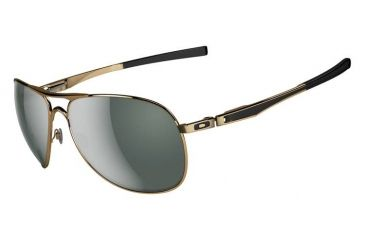 Oakley Plaintiff Sunglasses, Polished Gold Frame, Dark Grey Lens OO4057-02