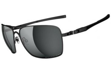 Oakley Plaintiff Squared Sunglasses - Matte Black Frame and Grey Polarized Lens OO4063-04