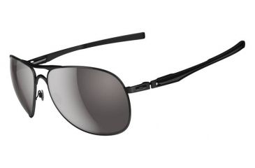 Oakley Plaintiff Sunglasses, Matte Black Frame, Warm Grey Lens OO4057-01