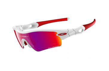 Oakley Radar Path Polished White Frame w/ Red Iridium Polarized Lenses Sunglasses 26-212