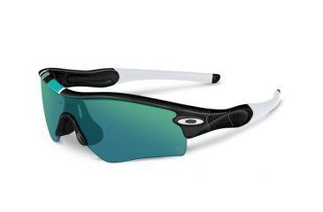 Oakley Radar Path Mens Sunglasses Polished Black Frame, Jade Iridium Lens 26-268