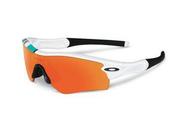 Oakley Radar Path Mens Sunglasses Polished White Frame, Fire Iridium Lens 26-267