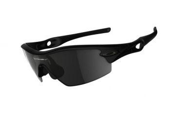 Oakley Radar Pitch Matte Black Frame w/ Grey Lenses Men's Sunglasses 09-676