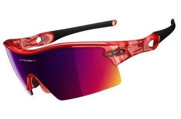8f09c8b4cc3 Oakley Radar XL Blades Crystal Red Frame w  + Red Iridium Lenses Sunglasses  09-