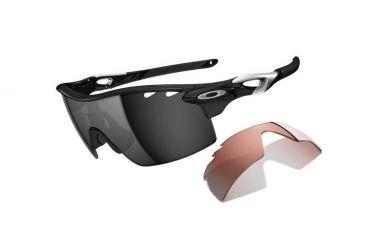 0951e644b72c2 Oakley Radarlock XL Straight Mens Sunglasses Polished Black Frame