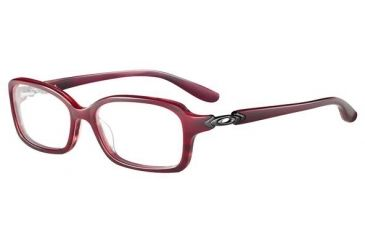 Oakley Crimp Single Vision Rx Eyeglasses, Size 53 - Red Marble Frame OX1070-0253