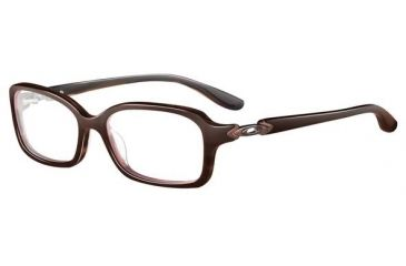 Oakley Crimp Single Vision Rx Eyeglasses, Size 53 - Brown Marble Frame OX1070-0453