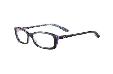 Oakley Cross Court Single Vision Rx Eyeglasses, Size 53 - Nightfall Stripes Frame OX1071-0453