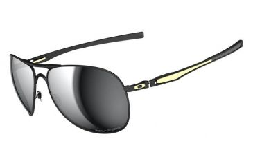 Oakley SW Plaintiff Matte Black /Gold Frame w/ Grey Polarized Lenses Sunglasses OO4057-10