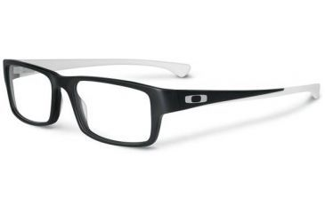 Oakley Tailspin Eyeglasses, Satin Black/White, 56.2 mm OX1099-0453