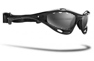 5077db7de20c Oakley Water Jacket Jet Black Frame w  Black Iridium Polarized Lenses  Sunglasses 04-678