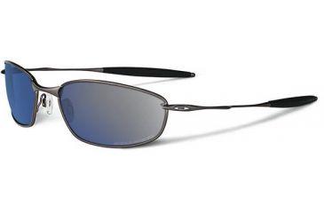 Oakley Whisker Sunglasses, Ice Iridium Polarized Lens, Pewter Frame 26-234