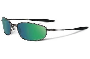 Oakley Whisker Sunglasses, Emerald Iridium Polarized Lens, Pewter Frame 26-235