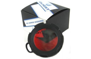 Olight Red Filter for M20 Series LED Flashlights, Red OLIGHT-M20-RED-FILTER