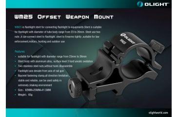 4-Olight WM25 Weapon Mount