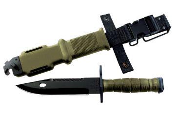 Ontario Knife M9 Bayonet With Scabbard, Green OK6220