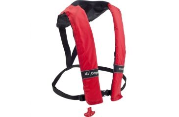 ONYX 3100 M-24 Manual Inflatable Life Jacket, Universal Size for Adult, Red 3100RED99
