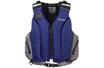 ONYX 5010 Shoal Paddle Sports Vest, 2XL,3XL Size, Nylon Shoulders, Sapphire, Silver 5010SAP07