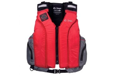 ONYX 5030 Riverton Paddle Sports Vest, 2XL,3XL Size, Foam, Nylon Shoulders, Panel, Red, Gray 5030RED07