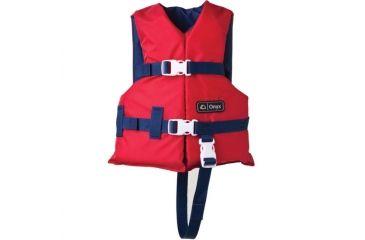 ONYX Life Vest, for Children, Polyethylene Foam, Nylon Outershell, Red, Navy 33320131