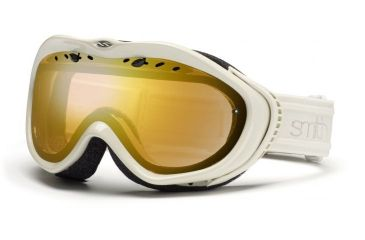Open Box, Dealer Demo, Smith Optics Anthem Snow Goggles - Ivory Bristol Frame, Gold Sensor Mirror Lens AN6GMIB11