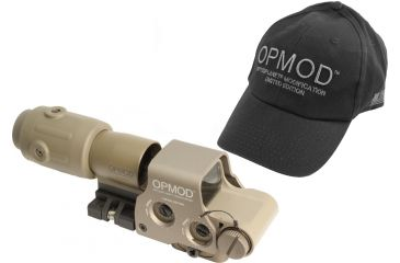 1-EOTech OPMOD MPO III EXPS2-0 Holo Sight with 3x G23 Magnifier - 65 MOA ring and 1MOA dot Reticle, Tan