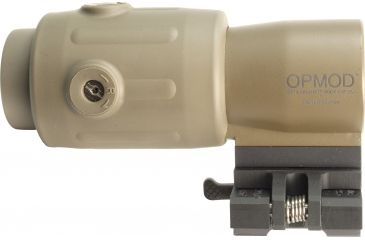 8-EOTech OPMOD MPO II EXPS3-0 Holosight with G23 3X Magnifier - 65 MOA ring and 1 MOA Dot Reticle, Tan
